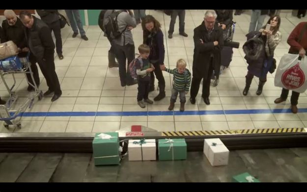 And then when the planes landed in Calgary… | This Airline Company Loaded Their Baggage Claim With Christmas Presents For Their Passengers