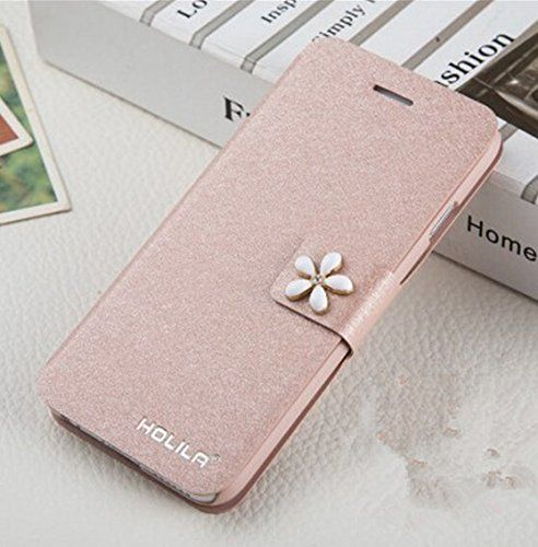Leren iPhone hoesjes vind je bij ons! - #leather iphone case and card holder | Multipurpose Fashion Silk and Flower Flip Folio PU Leather Case and Wallet Cover for Apple iPhone 6plus5.5 Inches with ID Card Holder & Magnet Closure & Convertible Stand - Champagne - http://www.telefoonhoesjes-shop.blogspot.nl/
