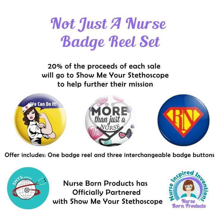Alternate choice Badge reel, Nurse badge reel, Nurse badge