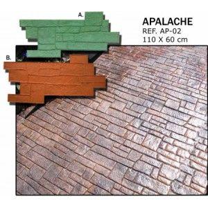 MOLDE PIEDRA APALACHE (A) 1050*600 HORMIGON IMPRESO