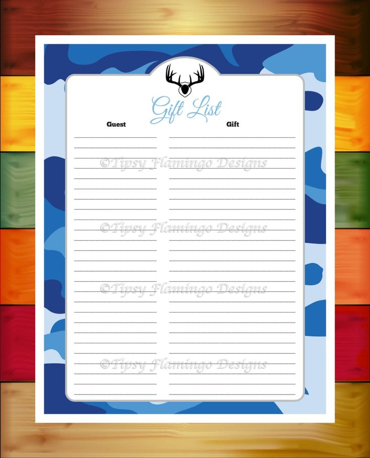 baby shower gift list baby shower game card gift list record blue
