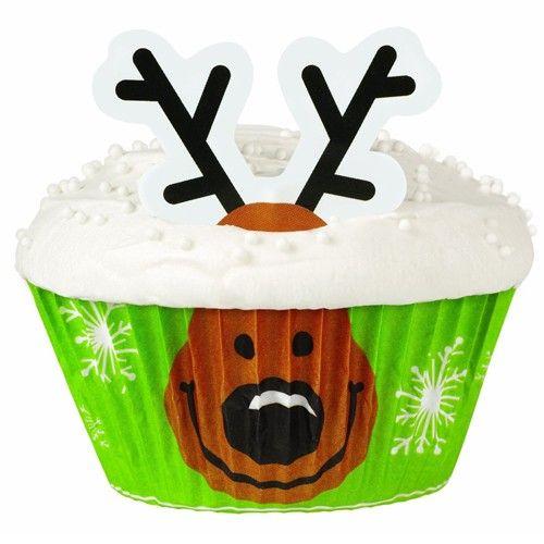 Transformeer eenvoudig je cupcake om tot een rendier met deze Wilton cupcake decorating kit! Perfect voor Kerst cupcakes.
