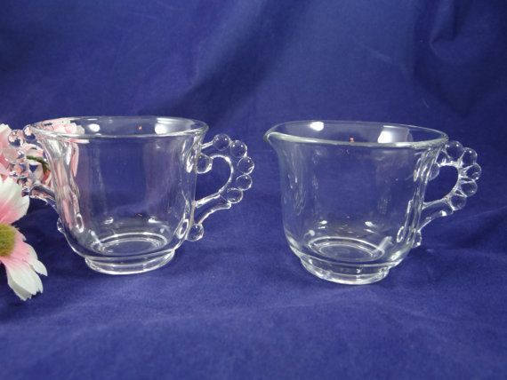Mint Vintage Glass Imperial Candlewick Creamer by SecondWindShop, $18.00