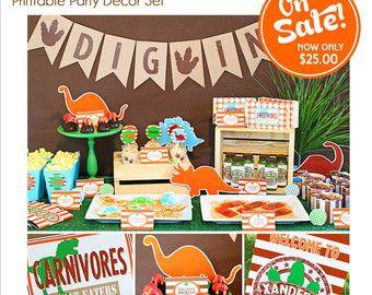 Dinosaur Party Decorations Dinosaur Birthday por KandKDesignworks