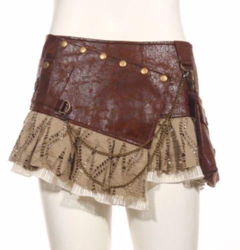 RQ-BL-brown-steampunk-skirt