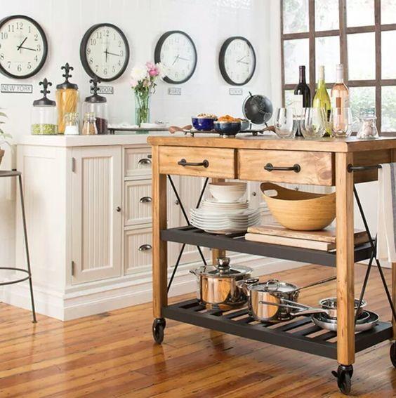 les 25 meilleures id es de la cat gorie desserte cuisine sur pinterest desserte meuble. Black Bedroom Furniture Sets. Home Design Ideas