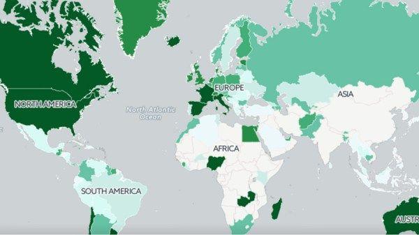 mapa consumo maconha O consumo de maconha no mundo em um mapa