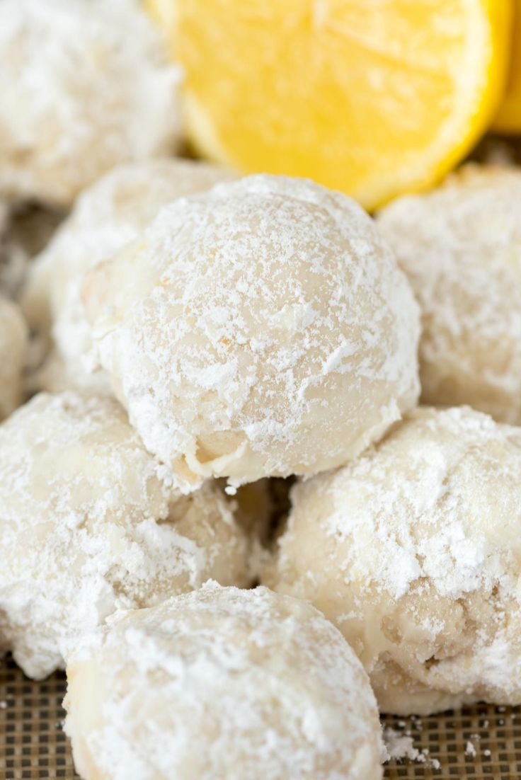 Lemon Snowball Cookies - an easy wedding cookie recipe filled with lemon zest, juice, and extract. These are the perfect tea cake cookies!
