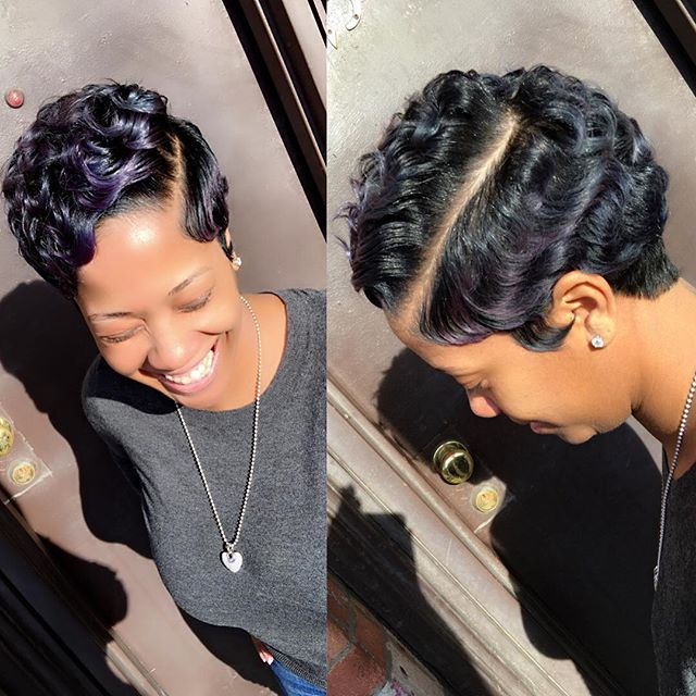 latest black hair styles posts you ve liked websta buns and updo s crimped 2536 | 88355168cfb840888a7cd2a32dae38bd short hair cuts black short hair styles black women