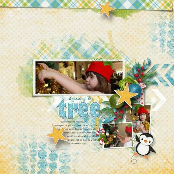 Arty Inspiration #2 templates by Heartstrings Scrap Art. Countdown to Christmas by The Kit Cart