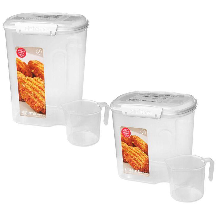 1000 ideas about flour container on pinterest food storage organization food storage. Black Bedroom Furniture Sets. Home Design Ideas