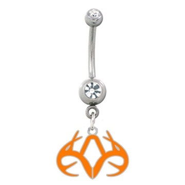 Realtree belly button ring