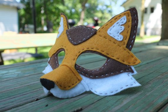 Handstitched Felt Mask The Fox от GrimmGuises на Etsy