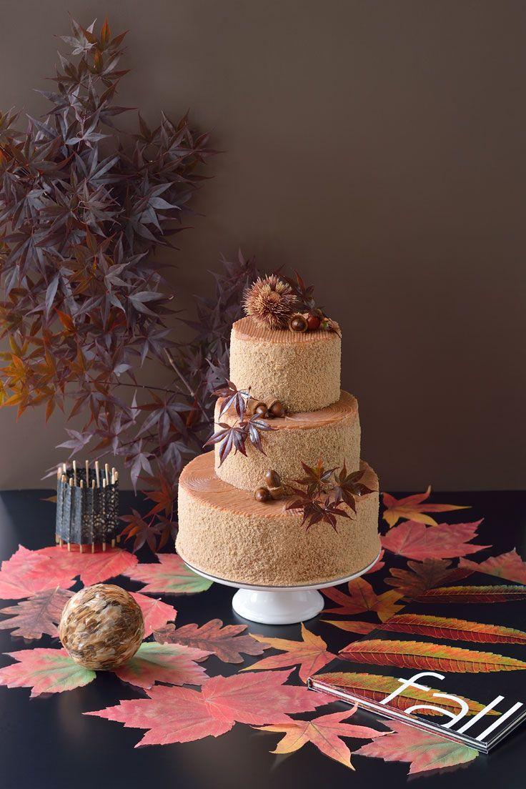 #NOVARESE #weddingcake #marron #braun #momiji #maple #chocolate