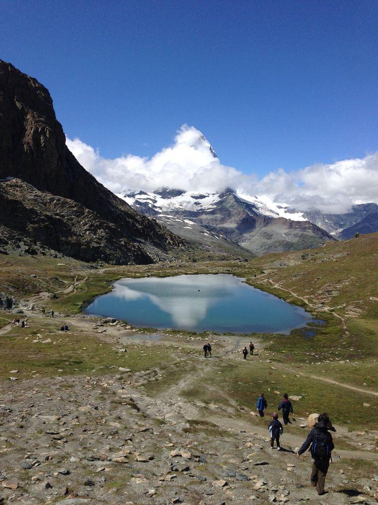 Lake in Zermatt valley