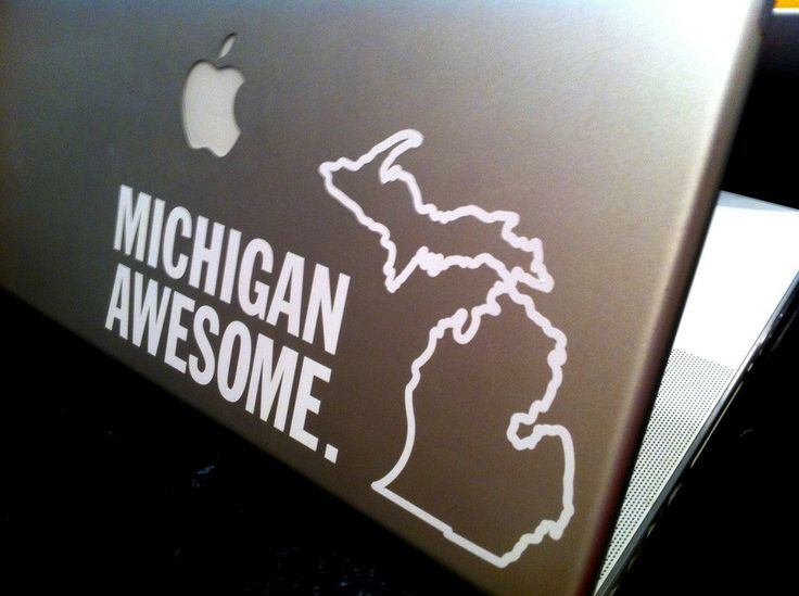 Michigan awesome measuring 4 5 x 9 this sticker is great for car