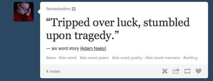 Six word essay hemingway