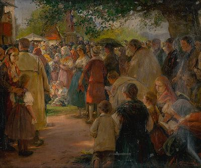 Procession in Eastern Slovakia by Maximilián Kurth, 1915. Slovak national gallery, CC BY