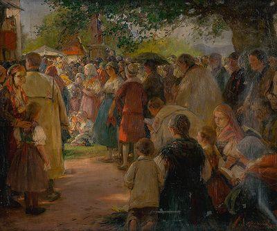 Procession in Eastern Slovakia by Maximilián Kurth, 1915. Slovak national gallery, CC BY