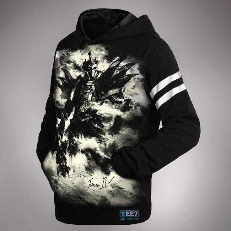 league of legend LOL Jarvan Ⅳ Hoodie Ink Print Exemplar of Demacia Sweatshirt