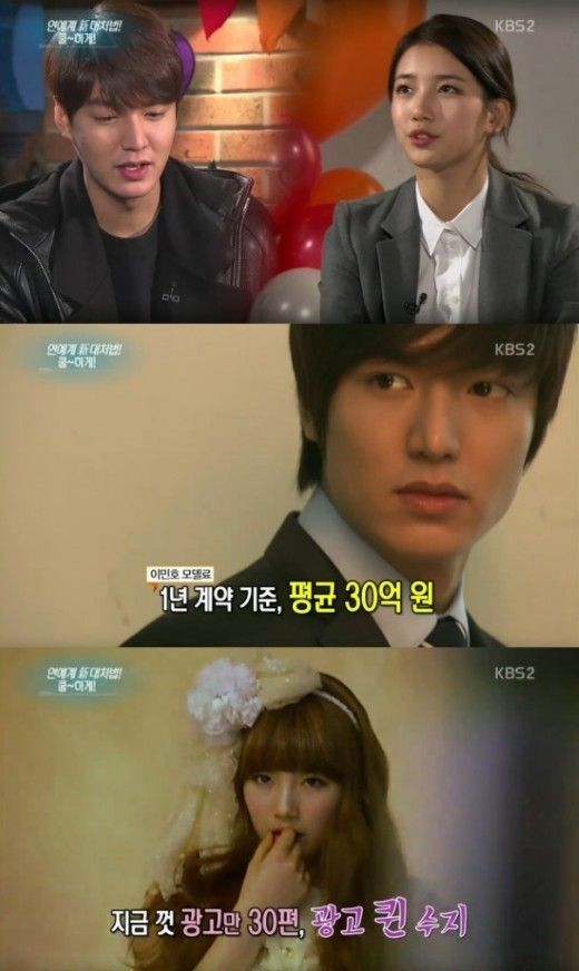 Lee Min Ho-Suzy Couple's Advertising Impact Increased After Going Public