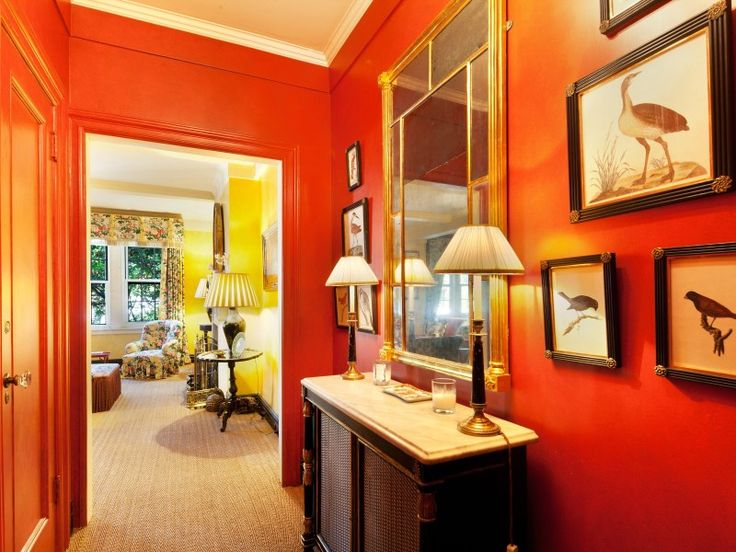 Yellow Foyer Paint : Bold color orange foyer into yellow room house ideas