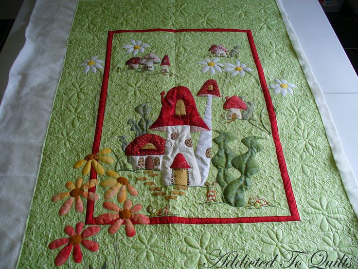 30 Best Images About Mushroom Quilt On Pinterest