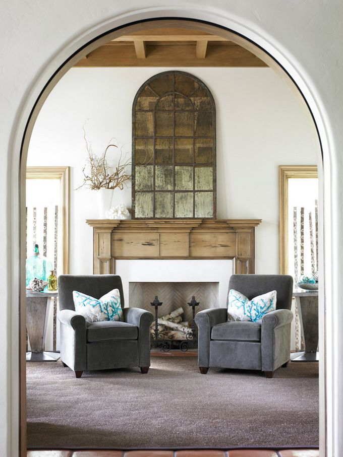 Fireplace Design mirror over fireplace : 145 best mantel   fireplace images on Pinterest