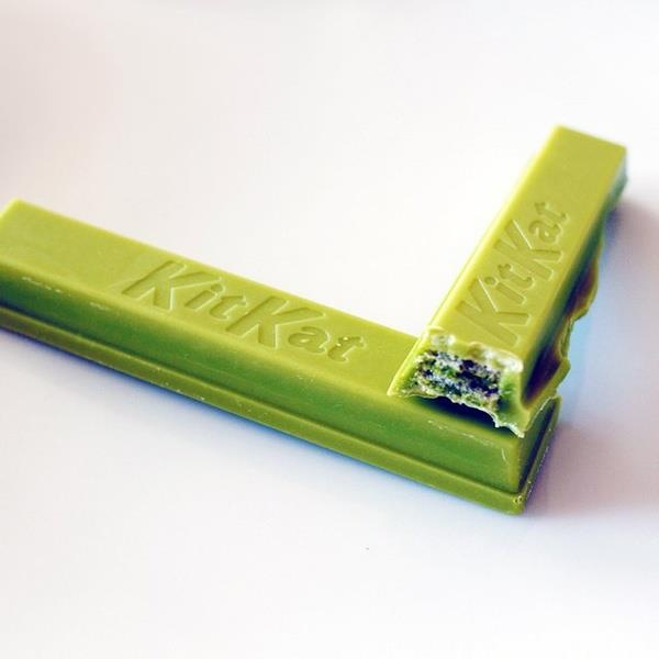 Green Tea KitKat in Japan.