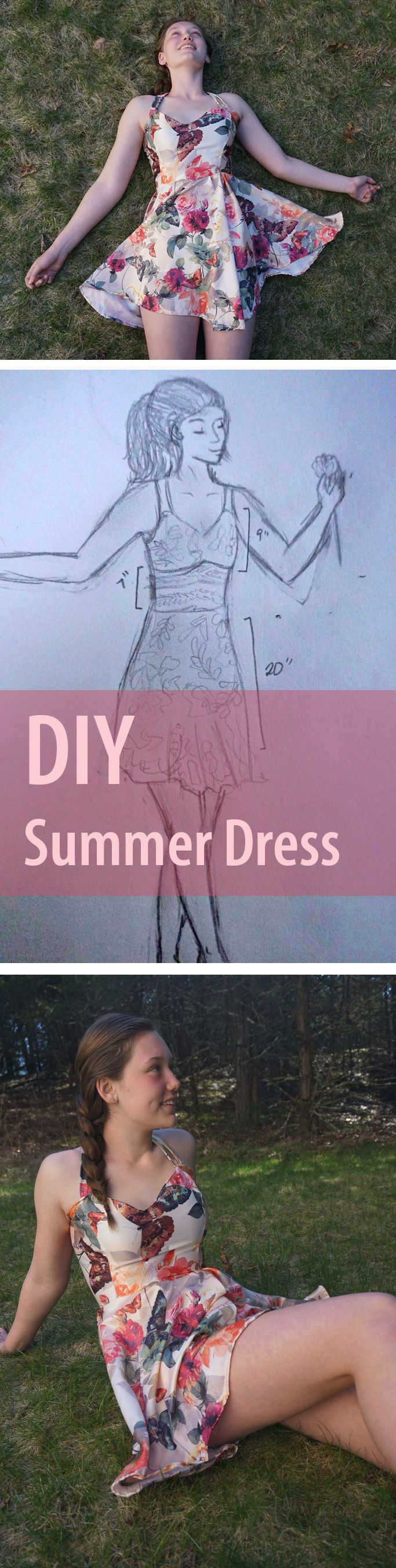 Step 1: Make yourself a gorgeous silk summer dress. Step 2: Have the most amazing summer ever.