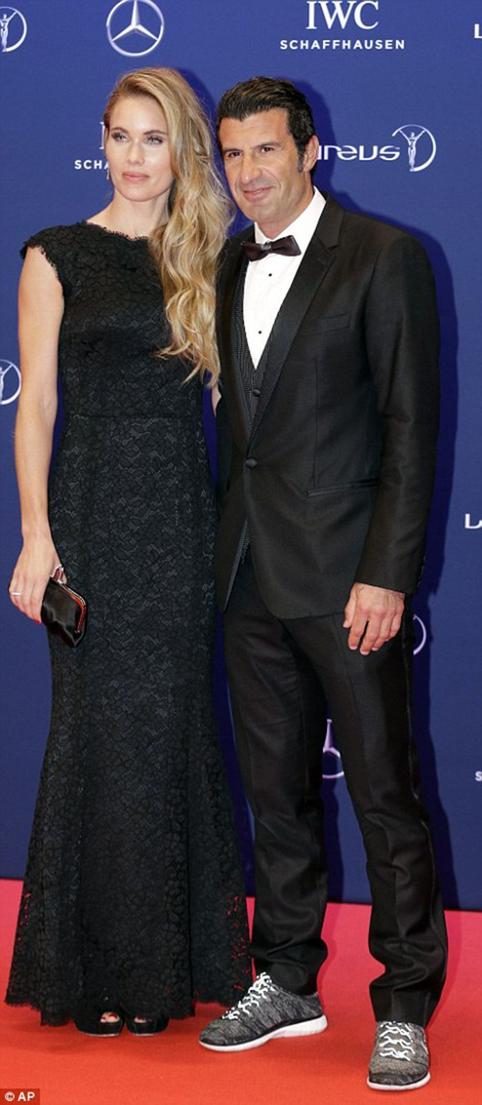 Helen Svedin and Luis Figo at Laureus World Sports Awards 2016