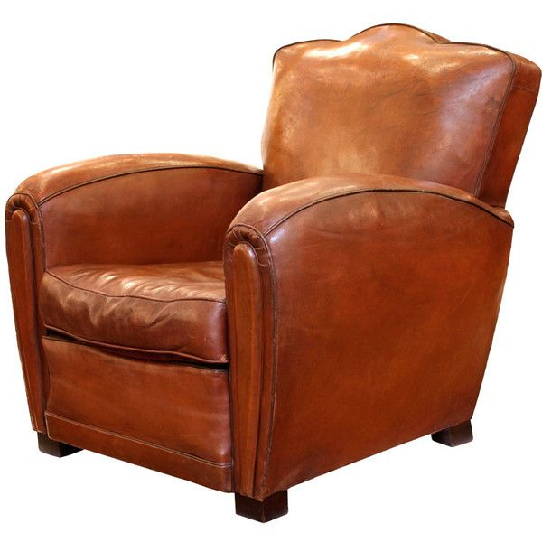 View this item and discover similar club chairs for sale at - French Art  Deco period leather club chair with wooden feet. Seat height is - 299 Best Old Leather Chairs Images On Pinterest Leather Chairs