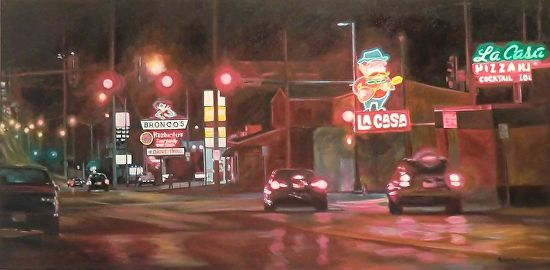Late Night Cravings by Katrina MethotSwanson Oil ~ 24 x 48