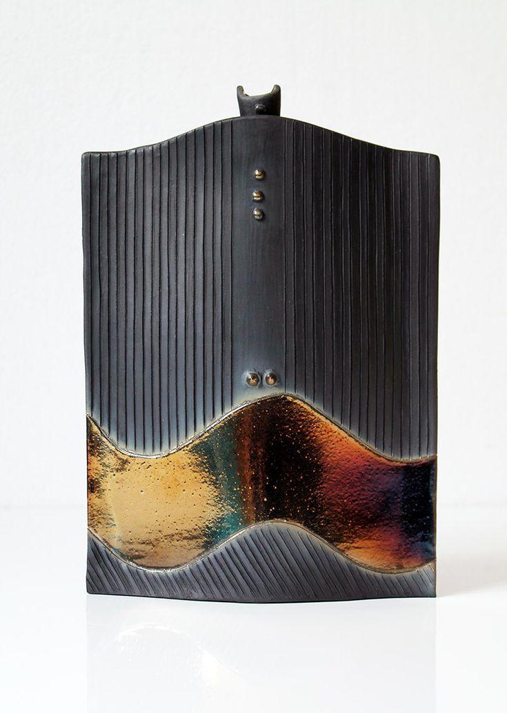 Ceramica : Bottiglia vaso realizzata da Ceram'art