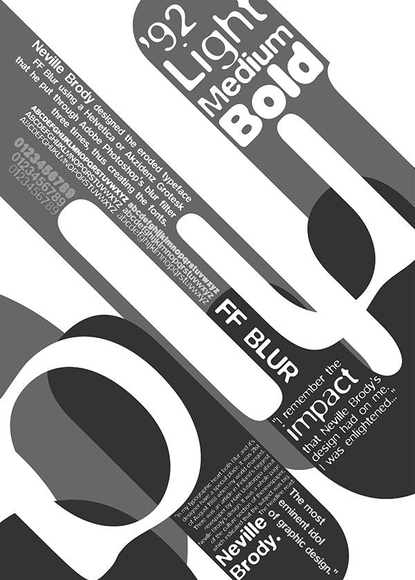 FF Blur by Neville Brody- Typographic Poster on Behance