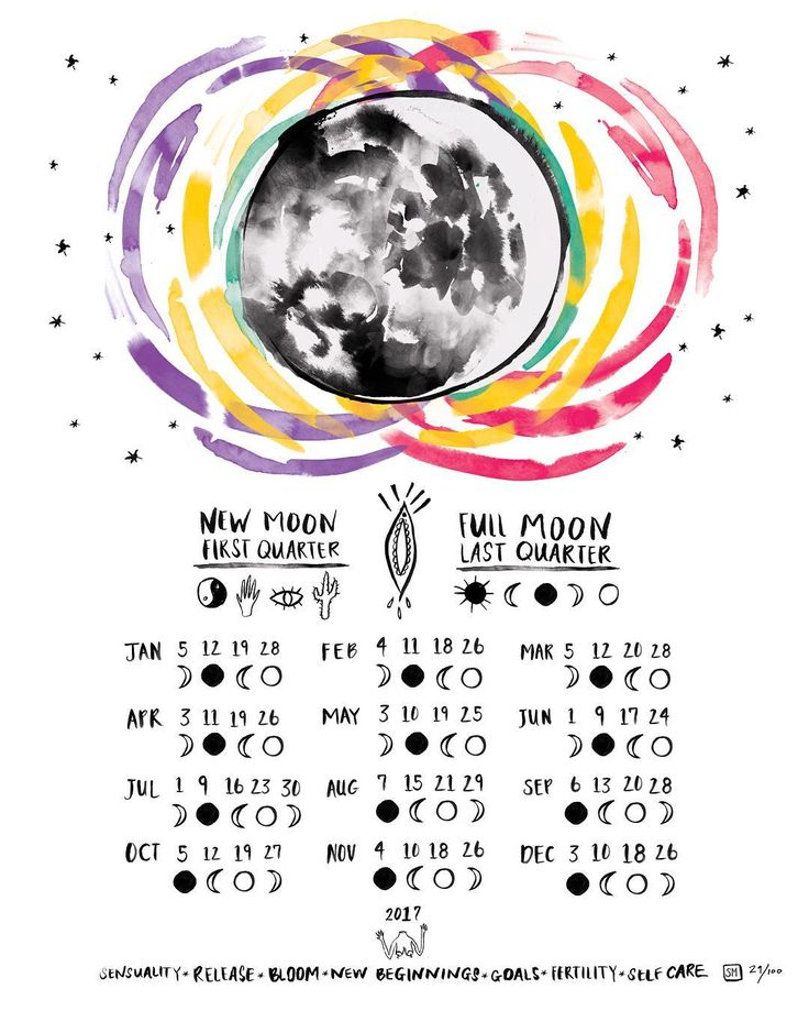 """83 Likes, 15 Comments - bySarahMessina (@bysarahmessina) on Instagram: """"Hey ya'll! I made a new moon calendar for 2017, just in time to celebrate the last full moon of the…"""""""