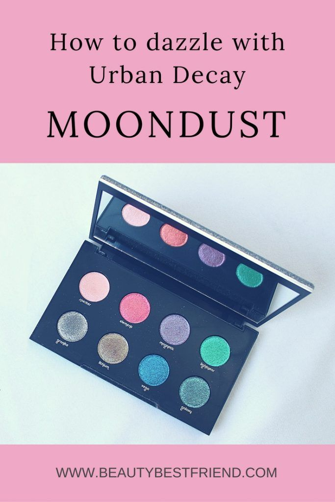 If you love glittery eyeshadows then you'll absolutely adore this spectacular Moondust palette from Urban Decay. Containing 8 highly pigmented shimmery, glittery shadows you can create a rainbow of eye looks. Check out my blog post as I review the Urban Decay Moondust palette, find out the best ways to apply and what my favourite colours are.  Urban Decay Moondust   Glitter Eyeshadow   Rainbow Eyeshadow   Eyeshadow Palette   Moondust Palette