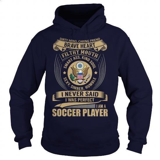 Soccer Player - Job Title - #cheap tees #womens sweatshirts. MORE INFO => https://www.sunfrog.com/Jobs/Soccer-Player--Job-Title-102431134-Navy-Blue-Hoodie.html?60505