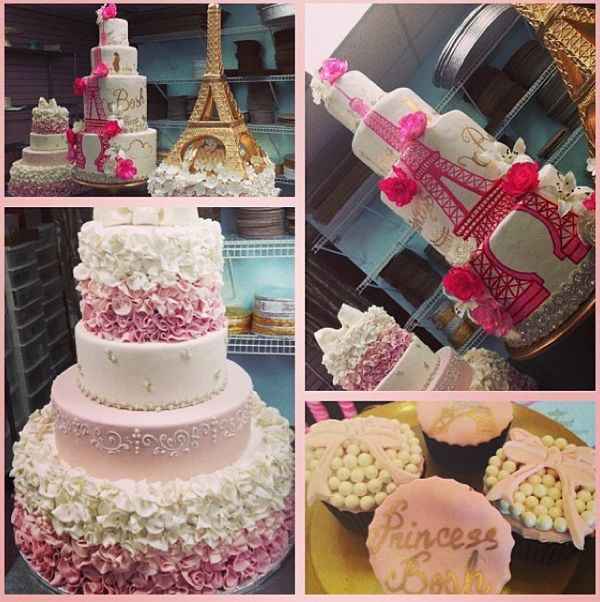 "Paris Baby Shower Cake: Adrienne Bosh Celebrates Her ""Parisian Princess"" At Lavish"