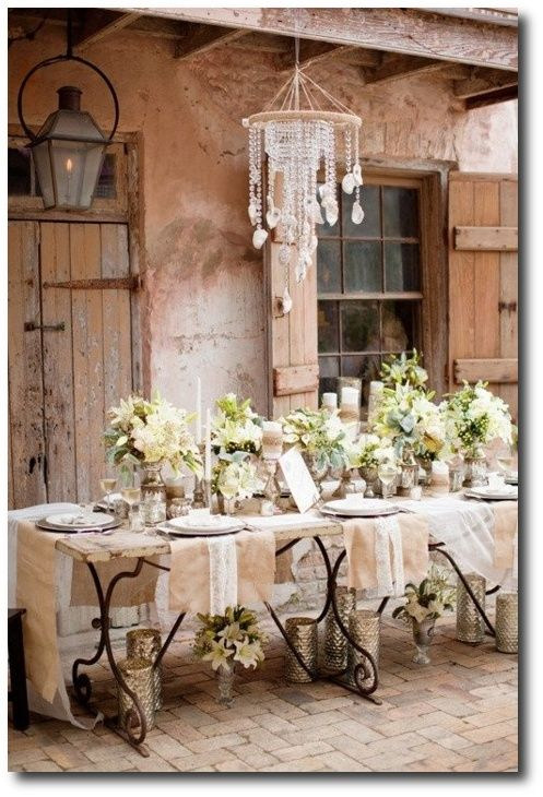 Oh Looking So French Romantic Shabby Chic Outdoor Table Setting Love Everything About This Design And Setting Would Love To Attend This Function In