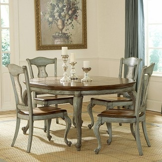 27 best images about dining room ideas on pinterest for Painted kitchen table ideas