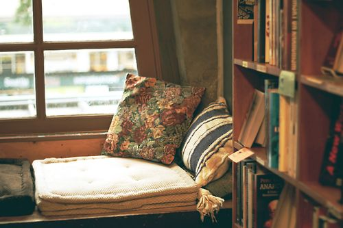 Reading nook in a Seattle bookstore