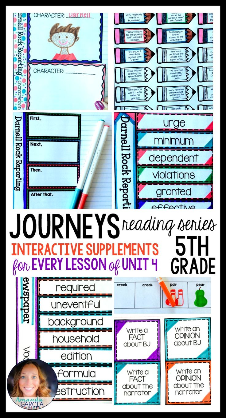 Fifth grade students LOVE these FUN interactive notebook supplements and printable worksheets! This unit is aligned to the Journeys reading series, Unit 4, for 5th grade. Stories include: Lunch Money, LAFFF, The Dog Newspaper, Darnell Rock Reporting, and The Black Stallion.