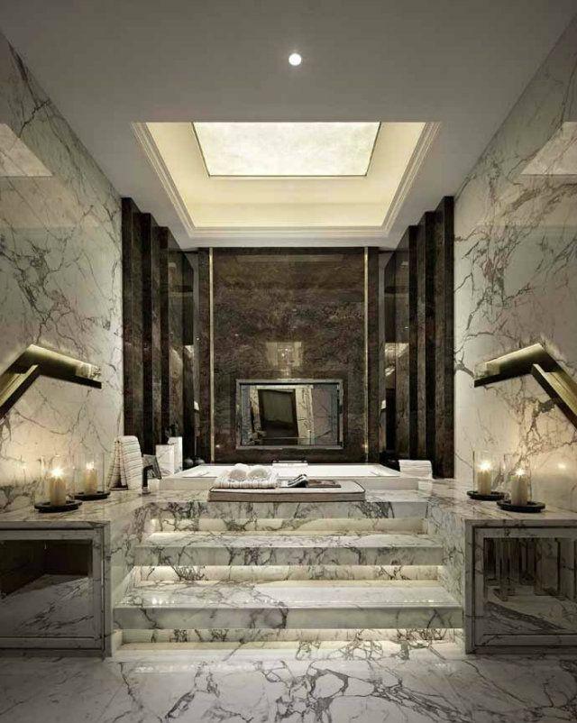 -Luxury-banho de mármore branco-black1 Luxury-banho de mármore branco-black1