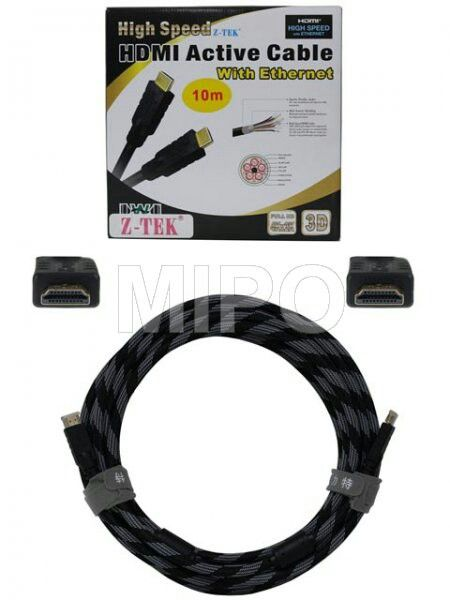 Kabel HDMI 10m v1.4 1080p Active   10M HDMI ACTIVE CABLE HIGH SPEED with Ethernet VERSION 1.4  Features : Extend HDMI signal 10meter Output terminal must be connected to HDTV Transfers HD audio and video: Perfect for HDMI Monitors, A/V Receivers, set-top boxes, HDTV and more with HDMI connectivity. Supports Full-HD 1080p: Supports Full-HD 1080p, up to 1440p. Bring games and other video to life with dazzling clarity. Increases the maximum resolution to 4K x 2K, i.e.3840 x2160p (Quad HD) at…