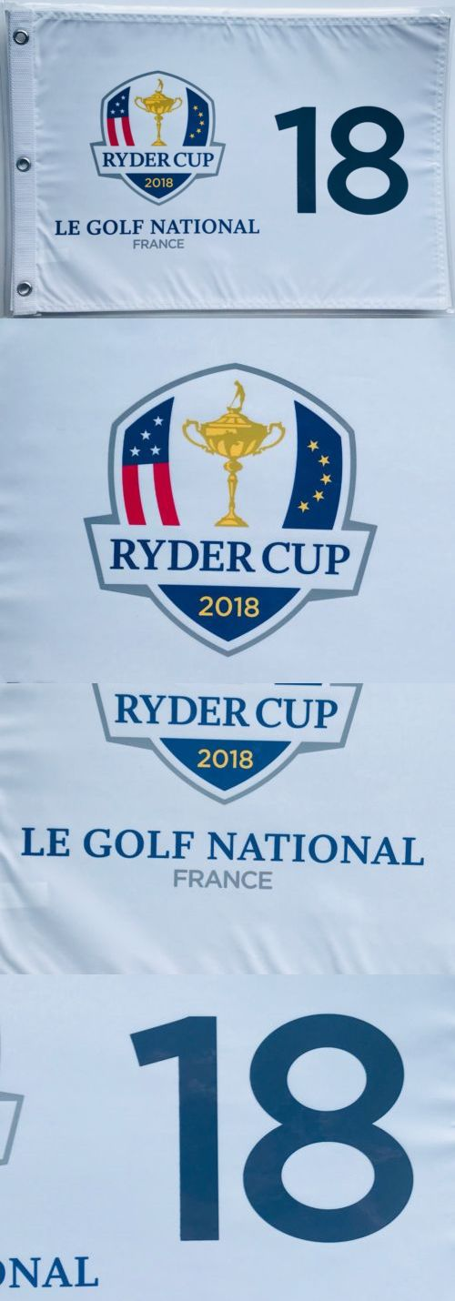 Golf 428: 2018 Ryder Cup Flag Le Golf National France New Silkscreen Logo Golf Flag Pga -> BUY IT NOW ONLY: $38.65 on eBay!