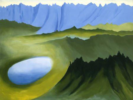 Georgia O'Keeffe, Mountains and Lake, 1961
