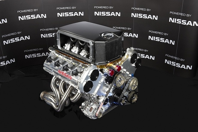 Nissan's new V8 engine, the VK56DE Which brings us to February year. Nissan made the announcement that the Kelly Racing team would be defecting and becoming the factory Nissan squad. Nissan Motorsport Australia would be competing with the new Altima and would use a version of the VK56DE engine.