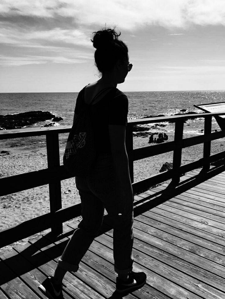 """""""Caminante no hay camino, se hace camino al andar."""" - Antonio Machado. La cala de Mijas. Málaga, Spain.  #nature #mefiterraneansea #spain #andalusia #malaga #blackandwhite #photo #girl #sea #beach #way"""
