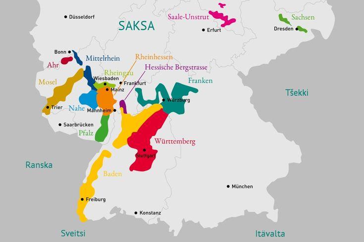 Saksan Viinitiedotus - Viinialueet